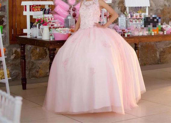 Vestido De Xv Años Rosa Pecubo