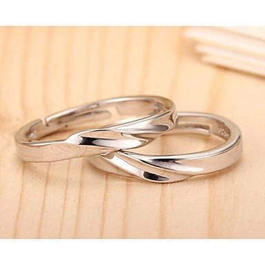 Anéis Casamento / Pesta / Diário / Casual Jóias Prata De Lei