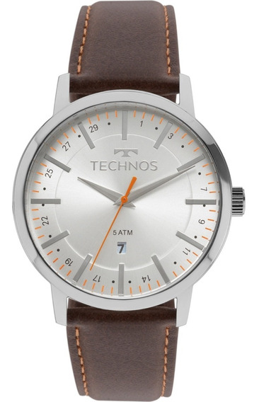 Relógio Technos Masculino Pulseira Couro Steel 2115mmh/1b