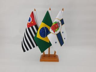 Itú-sp + São Paulo + Brasil Bandeiras De Mesa