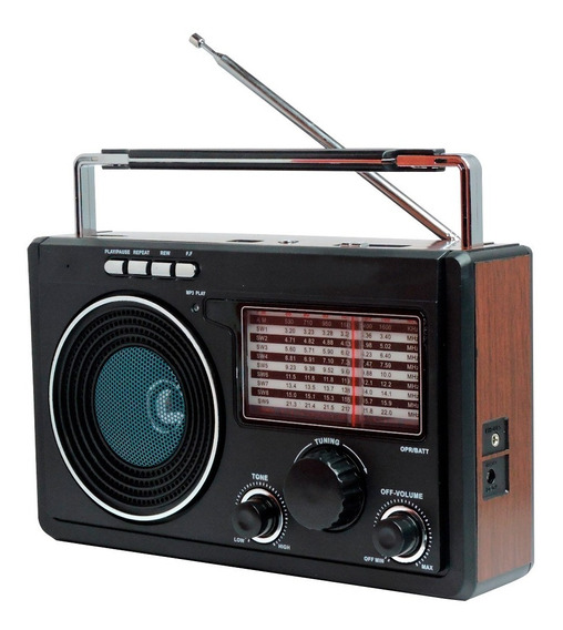 Rádio Retrô Cnn-686 Recarregável Am Fm 3w Rms 4 Ohms