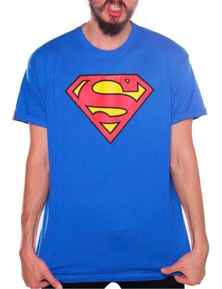 Playera Superman Azul Rey