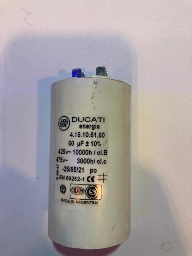 Imagen 1 de 1 de Capacitor De Arranque 60mf 450v Ducati