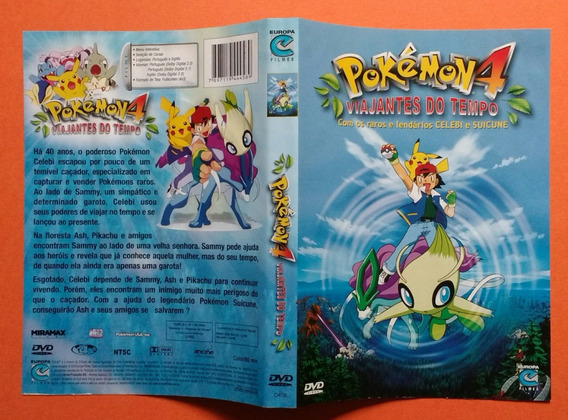 Dvd Pokémon 4 - Viajantes Do Tempo