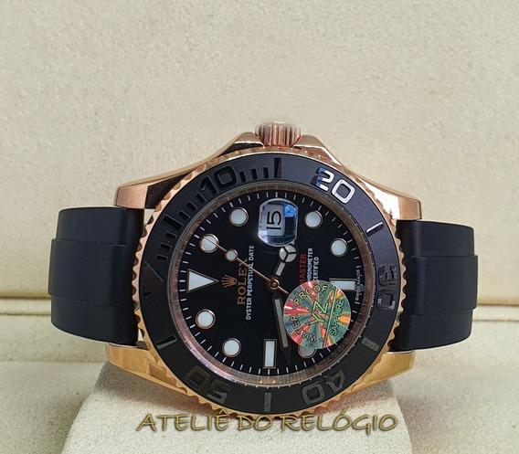 Relógio Acab. Eta - Modelo Yacht-master Gold - Puls Borracha