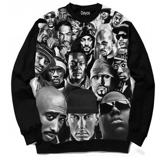 Casaco Moletom Sabotage Racionais 2pac Eminem 50cent Rappers
