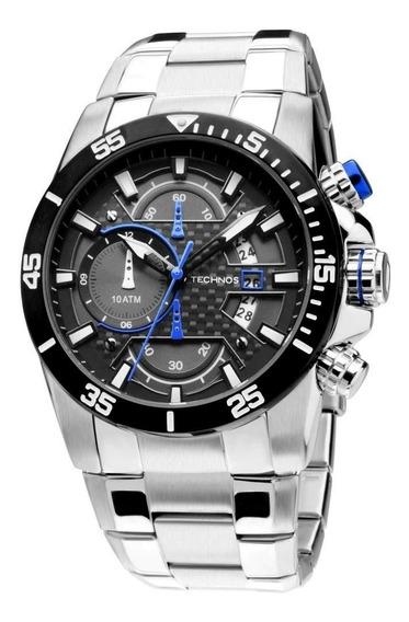 Relógio Technos Masculino Cronografo Azul Os10er/1a Original