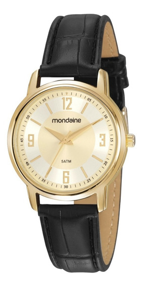 Relógio Mondaine Análogo Social Dourado 83475lpmvdh2
