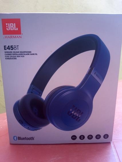 Jbl Audífonos Inalámbrico E45bt Internos Color Azul