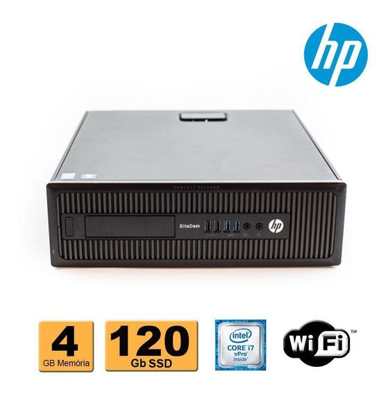 Computador Hp Elitedesk 800 I7 Vpro 4ª Geração 4gb Ssd 120gb