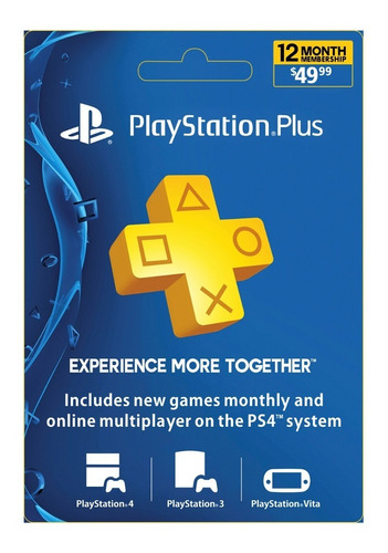 Membresia Playstation Plus 12 Meses
