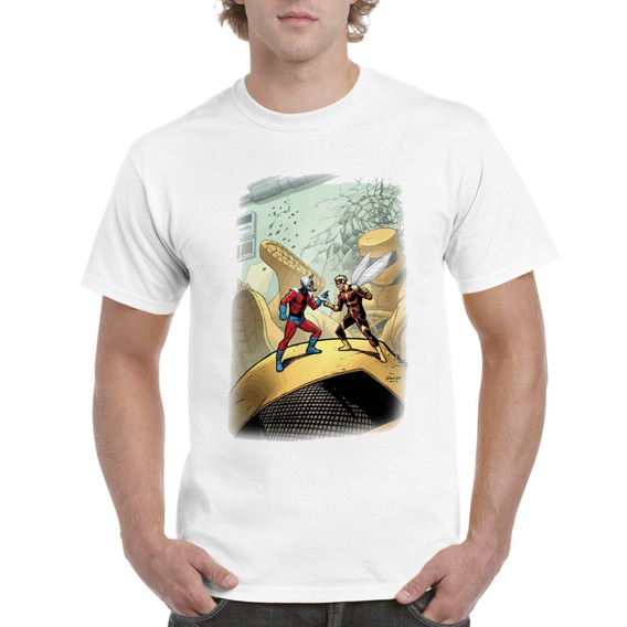 Camisas Wasp Y Ant Man Comic Marvel Tallas Disponibles