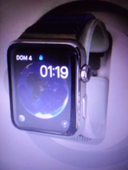 Relogio Apple Watch 42mm Com Caixa E Pulseira Em Aço Inox