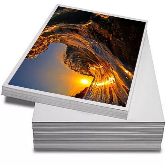 Papel Fotográfico 115g Adesivo A4 À Prova D´água 200 Folhas