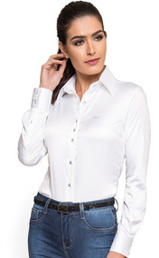 Camisa Branca Com Elastano Social Principessa Aurea