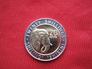 Kenia 20 Shillingi 2018 Bimetalica