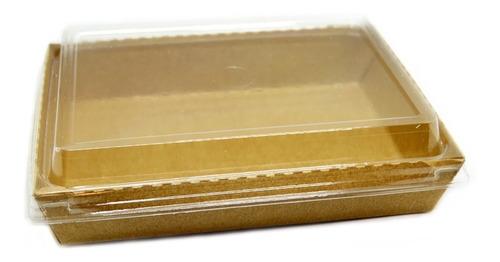 Imagen 1 de 3 de Bandeja Polipapel Kraft 105 C/ Tapa Cristal X400un Delivery