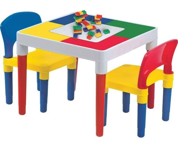 Mesa Infantil Atividades Com Blocos De Montar Bell Toy 9050