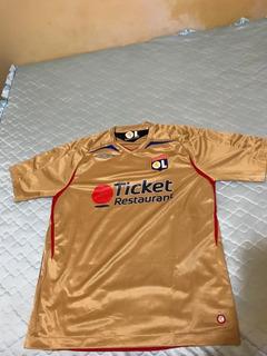 Camisa Oficial Do Olympique De Lyon Da França De 2008.
