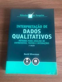 Livro Interpretação De Dados Qualitativos Métodos P/ Analise