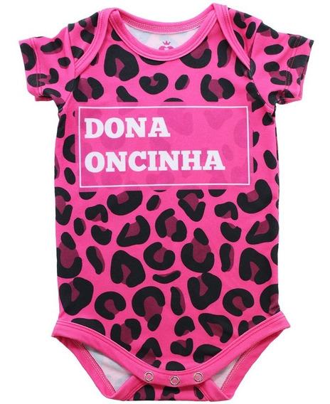 Body Bebê Estampado Dona Oncinha - Isabb