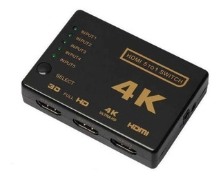 Switch Selector Hdmi 4k 5 Puertos Envió Gratis