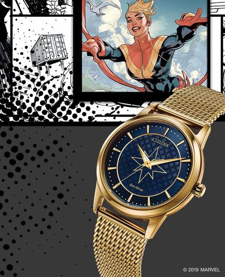 Reloj Citizen De Colección Marvel Capitana Marvel