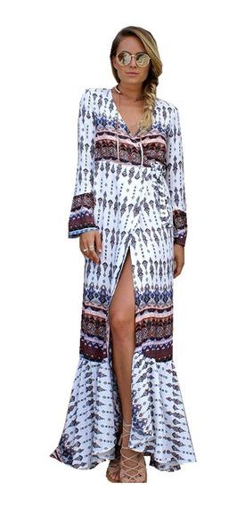 Vestido Boho Largo Importado 4 Modelos Ciudad Selena69