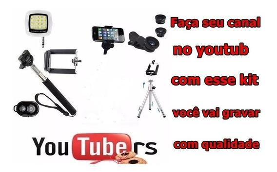 Kit Youtuber + Iluminação Flash Gravação Ao Vivo Facebook