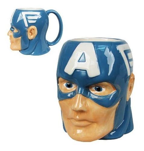 Imagen 1 de 2 de Mug - Taza Capitan America 3d   Marvel