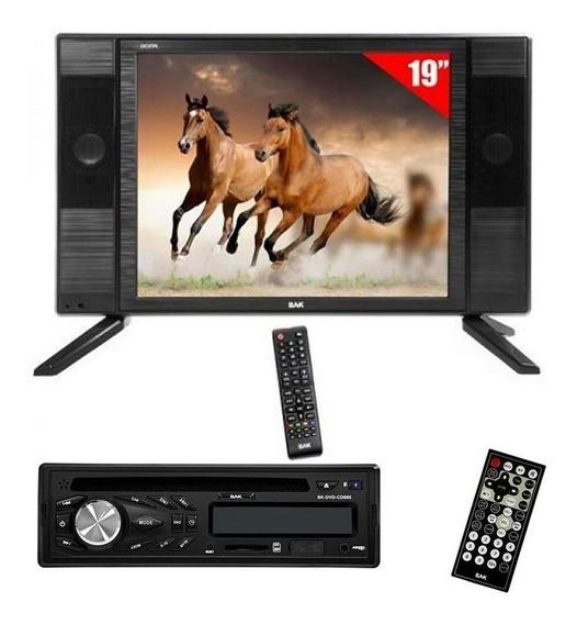 Kit Dvd + Tv Para Ônibus 19 Polegadas Led 12v 110/220v