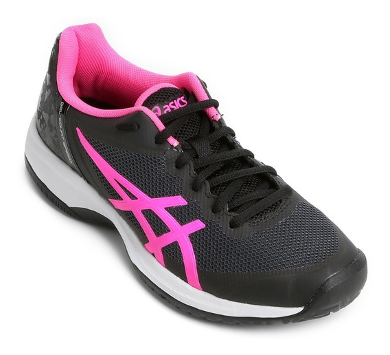 Tênis Asics Gel Court Speed Black Hot Pink Fem # Resolution