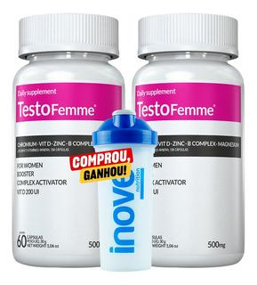 02 Testofemme 500mg Inove 60 Cápsulas - Testosterona Mulher