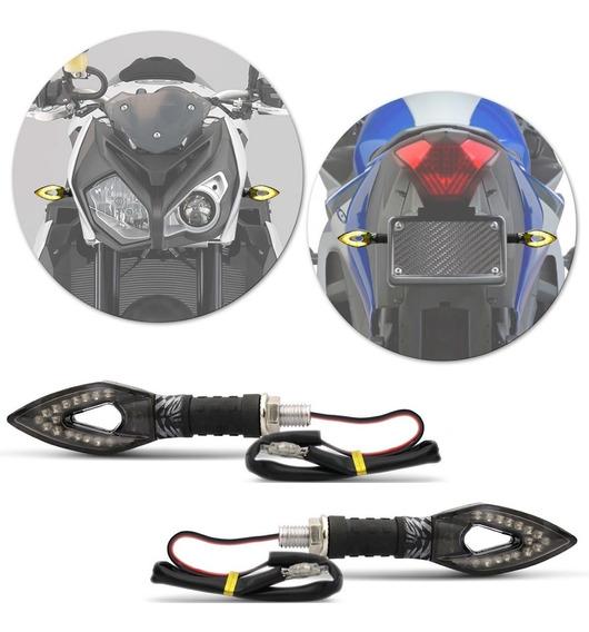 Pisca Seta Led Com Plug Carbono Kawasaki Z300 Z750 Z800 Z900