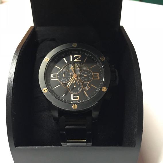 Reloj Armani Negro, A/x Modelo 1513 Original