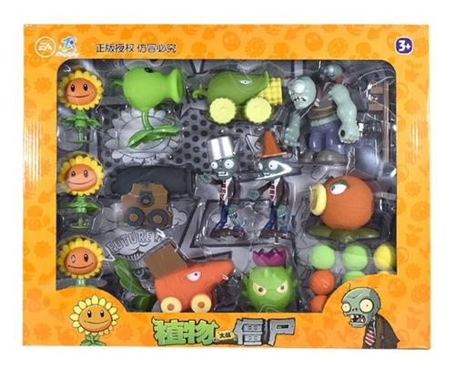 Imagen 1 de 4 de Juego Figuras Juguetes Plantas Vs Zombie Niños 22 Piezas