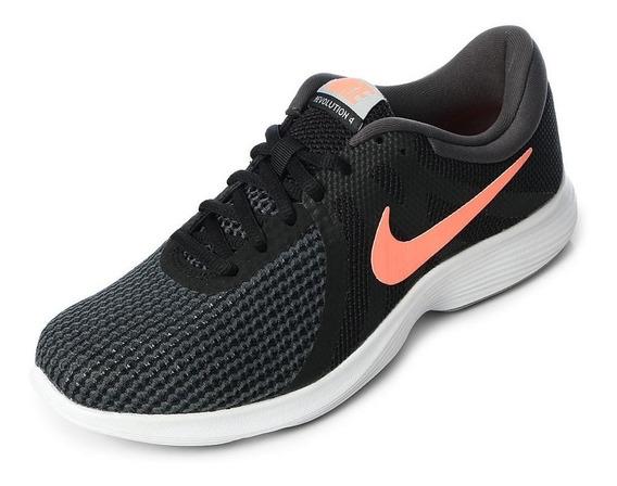 Zapatillas Nike Revolution 4 Mujer Running Nuevas 908999-008