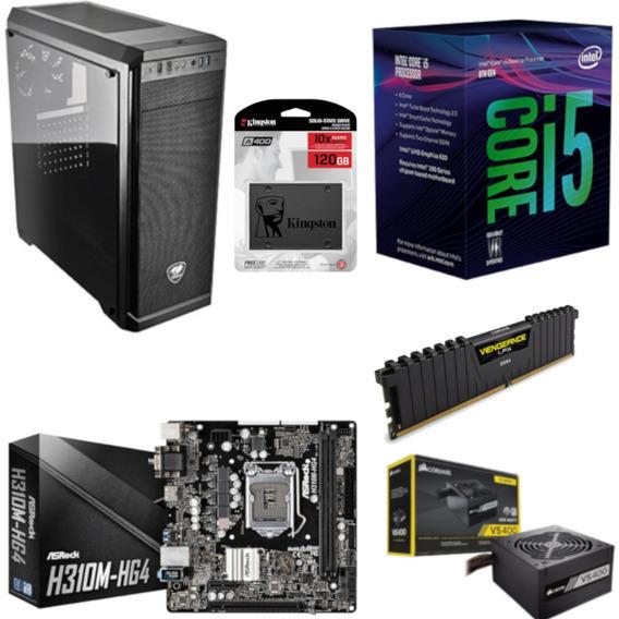 Pc Cougar Intel I5 8400 Mb H310m Hg4 Vg 4gb Vs400 Ssd 120gb