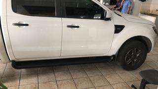 Estribo Personalizado Cor Preto Fosco Ranger Cd 2013 2019