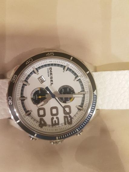 Relógio Diesel Branco Modelo Dz4351/0bn
