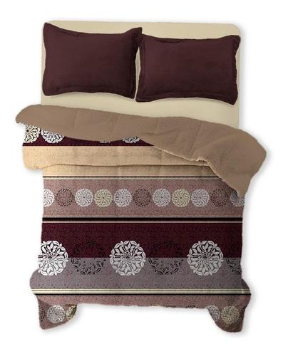 Imagen 1 de 2 de Cobertor Melocotton Flannel estampado Matrimonial Sotelo