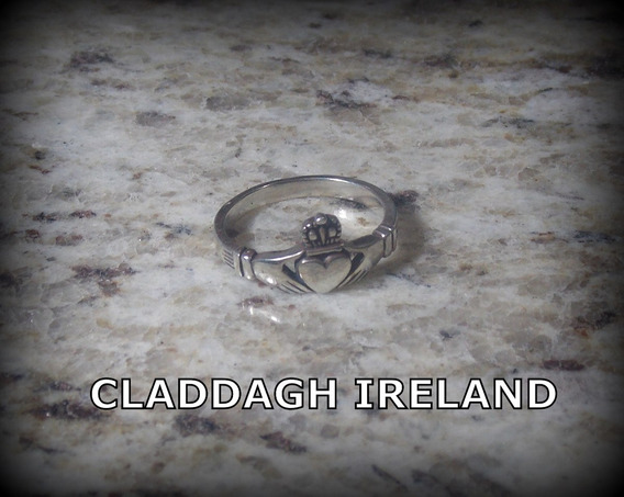 Anel Claddagh Ireland - Pura Prata 950 - 2,8 Gramas