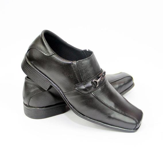 Sapato Masculino Social Couro Legítimo Garra Preto