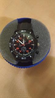 Reloj Hombre Nuevo Importado 44mm Metal Negro