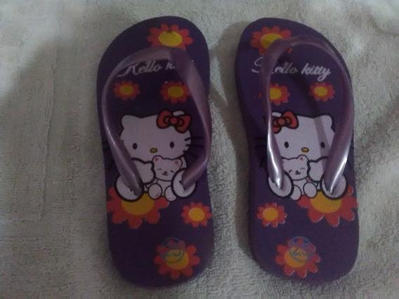 Chancletas De Niña Hello Kitty Varias Tallas 26