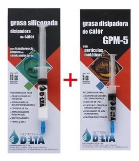 Grasa Disipadora 5cc Gris Gpm-5 +grasa Disipadora 10cc Delta