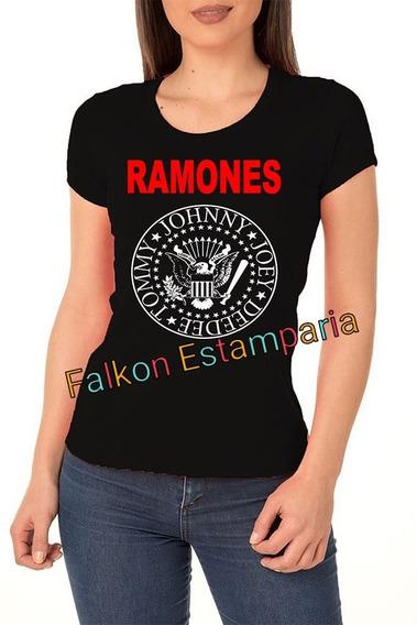 Camiseta Camisa Ramones Banda De Rock Promoção Mais Barato