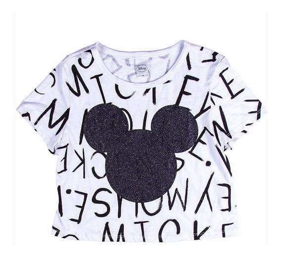 Camiseta Manga Curta Personagem Mickey Menina Juvenil