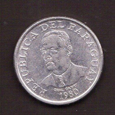 Numismza : Paraguay 10 Guaranies 1980 ( M 107) Oferta
