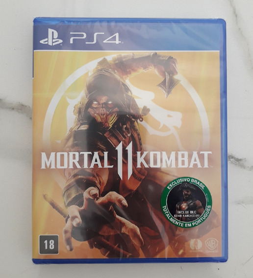 Mortal Kombat 11 Ps4 Mídia Física Com Dlc Português Jogo